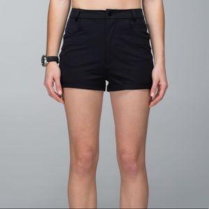 Lululemon get it on high waisted shorts black